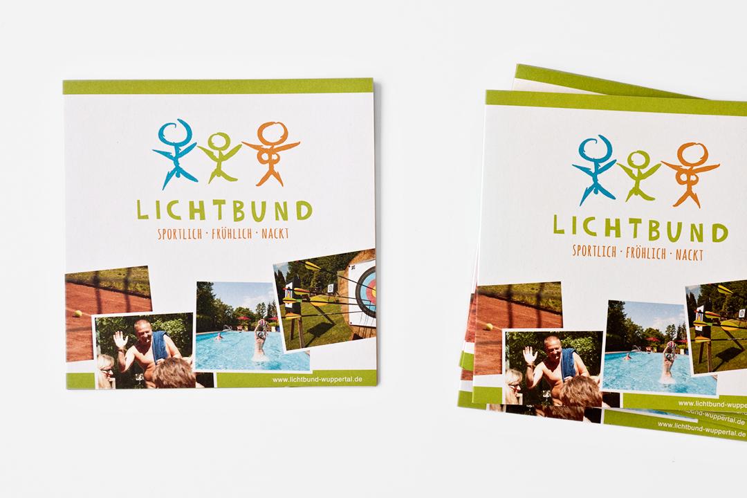 Corporate Design mit Logo und Imageflyer für einen FKK-Verein // Frontansicht Flyer