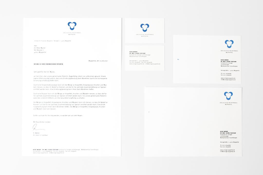 Corporate Design mit Logo und Geschäftsausstattung für einen Arzt // Gesamtübersicht