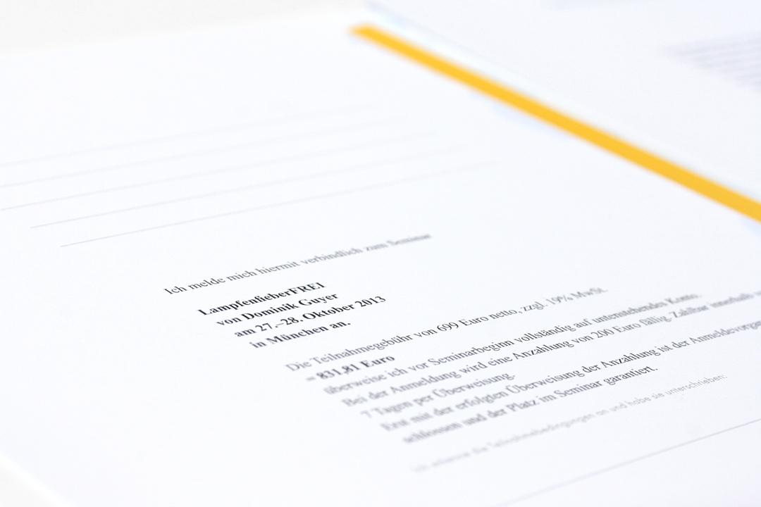 Corporate Design mit Logo und Geschäftsausstattung für einen Coach // Seminarunterlagen