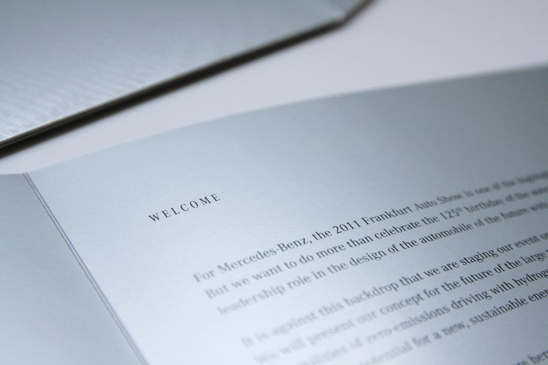Gestaltung einer Einladungskarte für Mercedes-Benz // Innenseiten