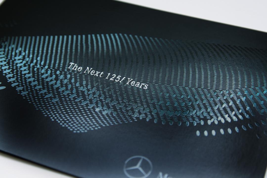 Gestaltung einer Einladungskarte für Mercedes-Benz // Vorderseite