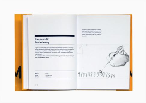 Buchgestaltung für eine Projektarbeit // Innenseite