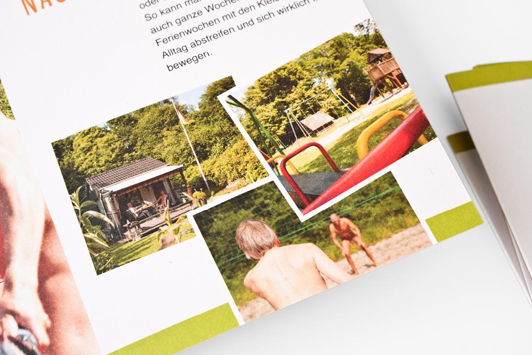Corporate Design mit Logo und Imageflyer für einen FKK-Verein // Innenansicht