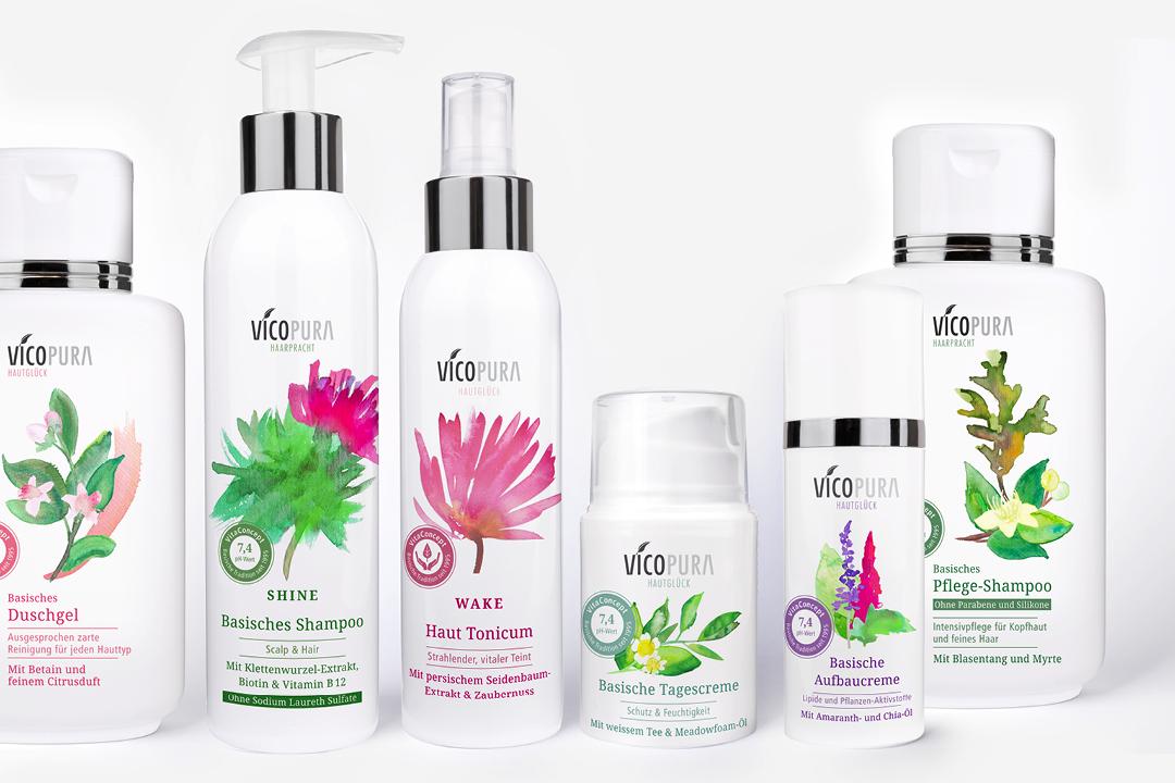 Verpackungsdesign für pflanzliche Kosmetik // Gesamtansicht