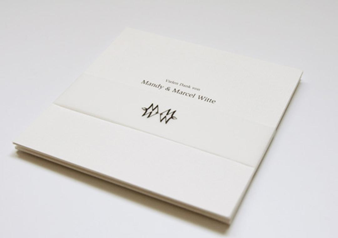 Einladungskarte zur Hochzeit // Danksagungskarte