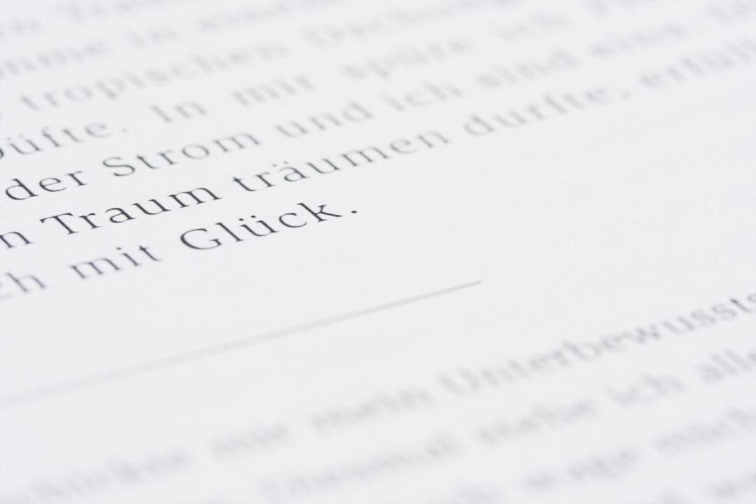Buchgestaltung // Detail
