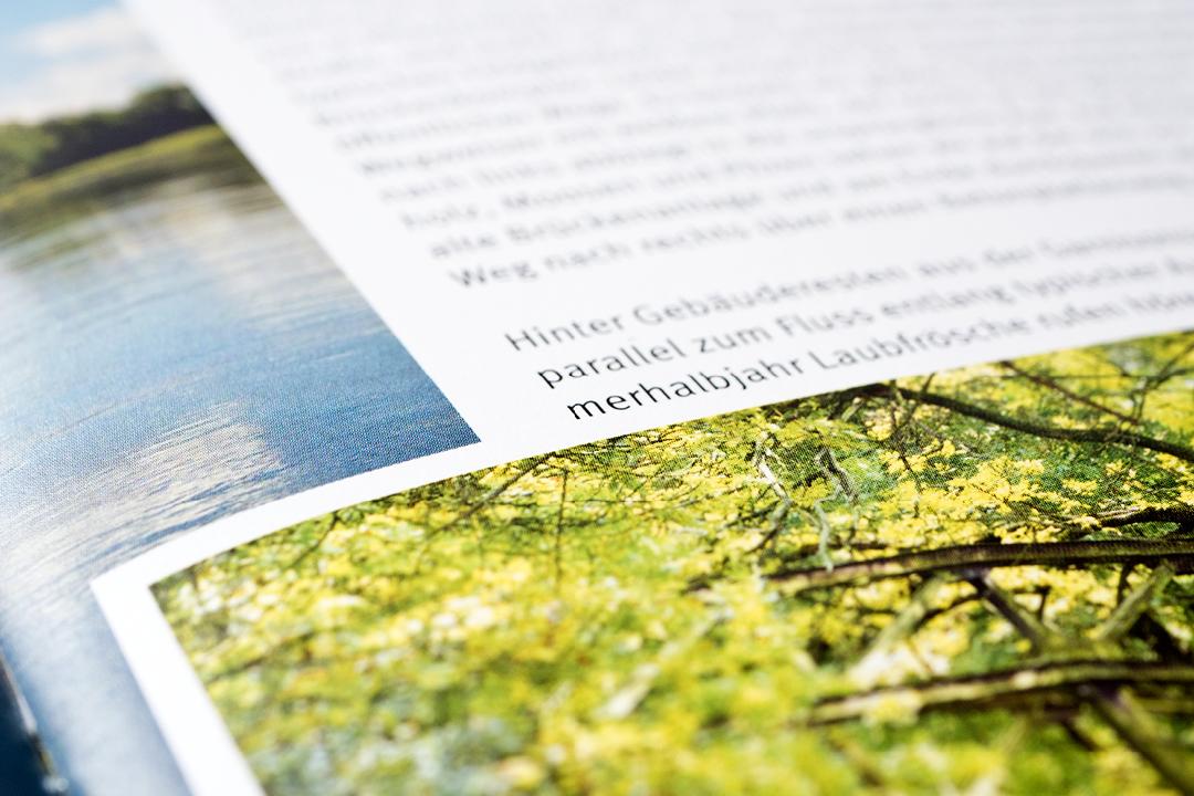 Gestaltung einer Imagebroschüre // Detail