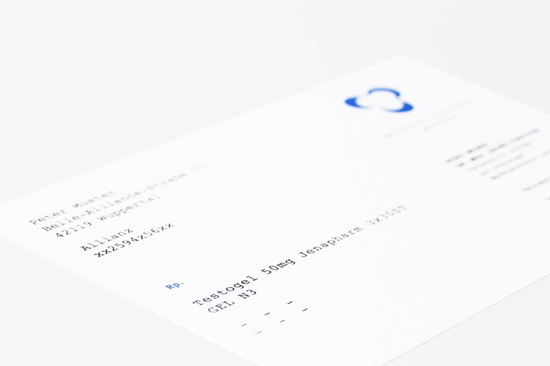 Corporate Design mit Logo und Geschäftsausstattung für einen Arzt // Rezept