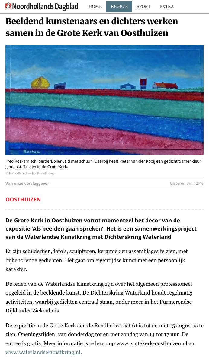 Noordhollands Dagblad juli 2021