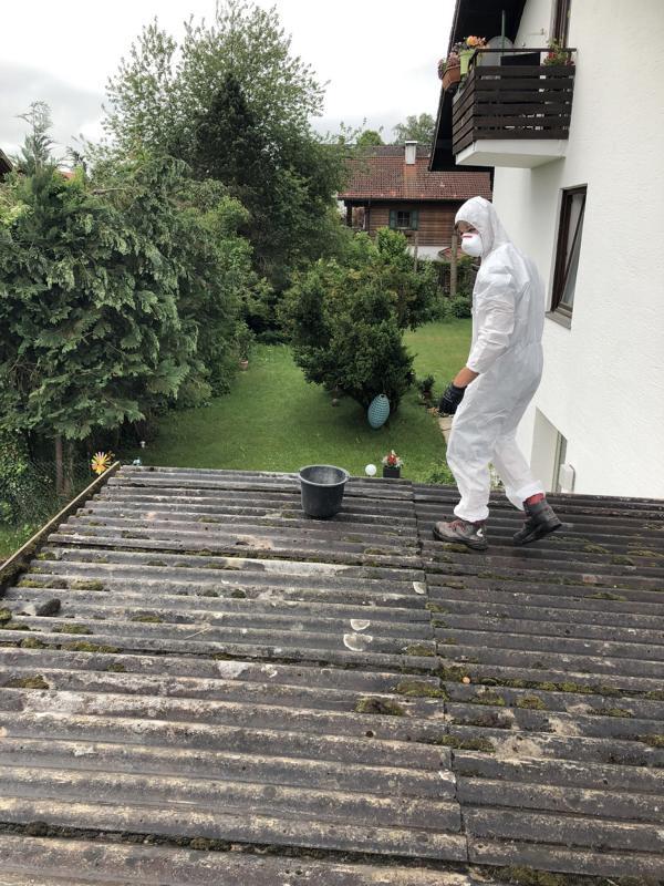Asbestsanierung Garagendach