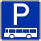 Parkplatz für Bus