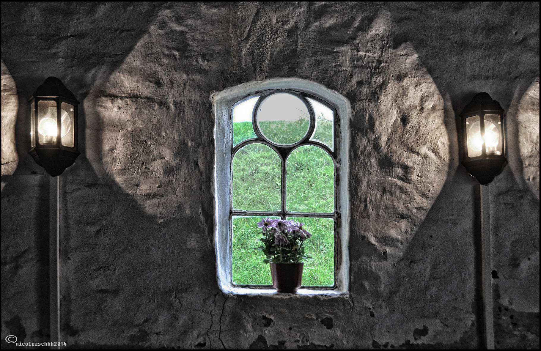 Das Fenster zum Deich ( und nicht zum Hof..;-) )