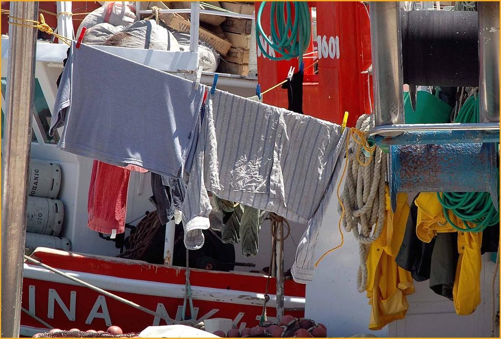 Bei Fischers ist Waschtag