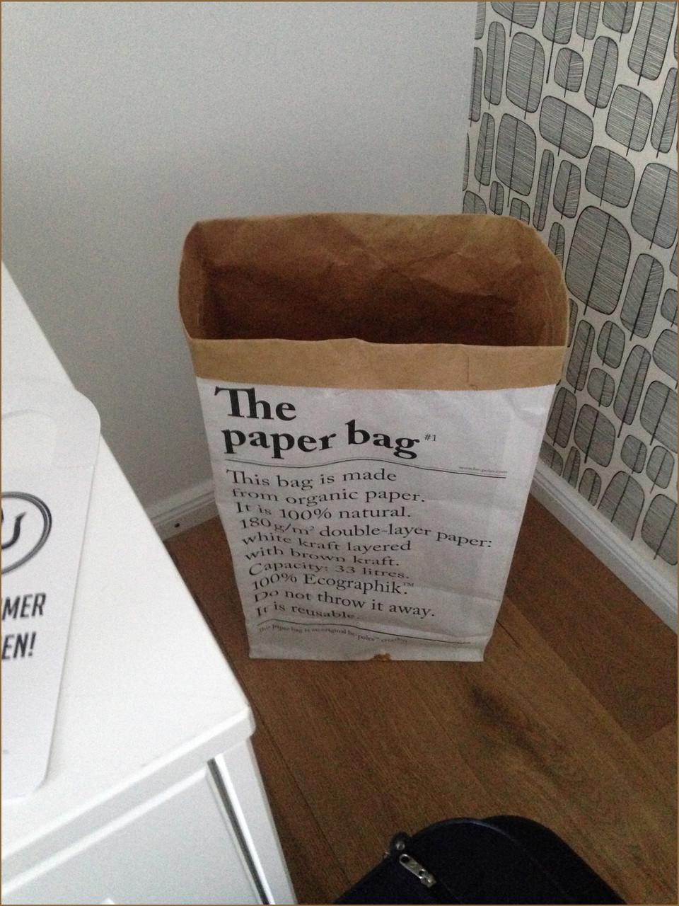 Eine edle Form der Papierkorbvariante
