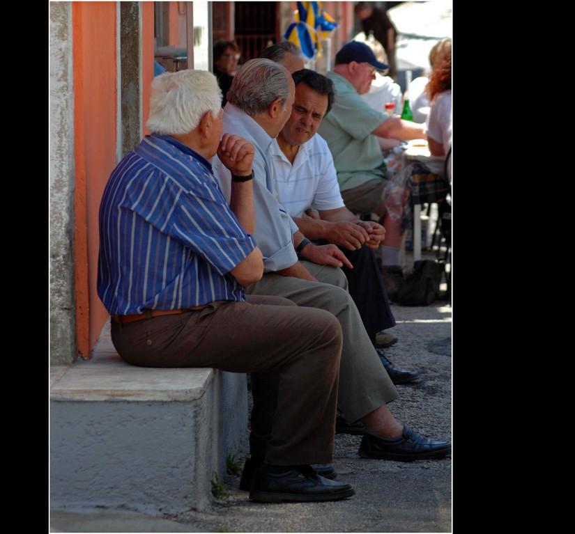 Doukades, schwer arbeitende Griechen