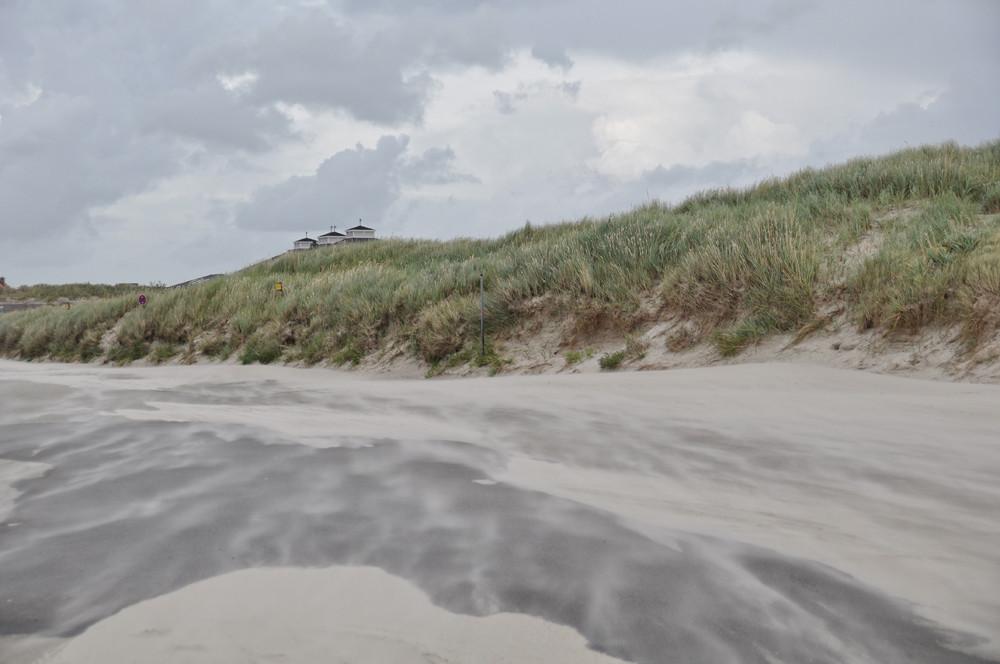 Sturm und Sandverwehungen.......