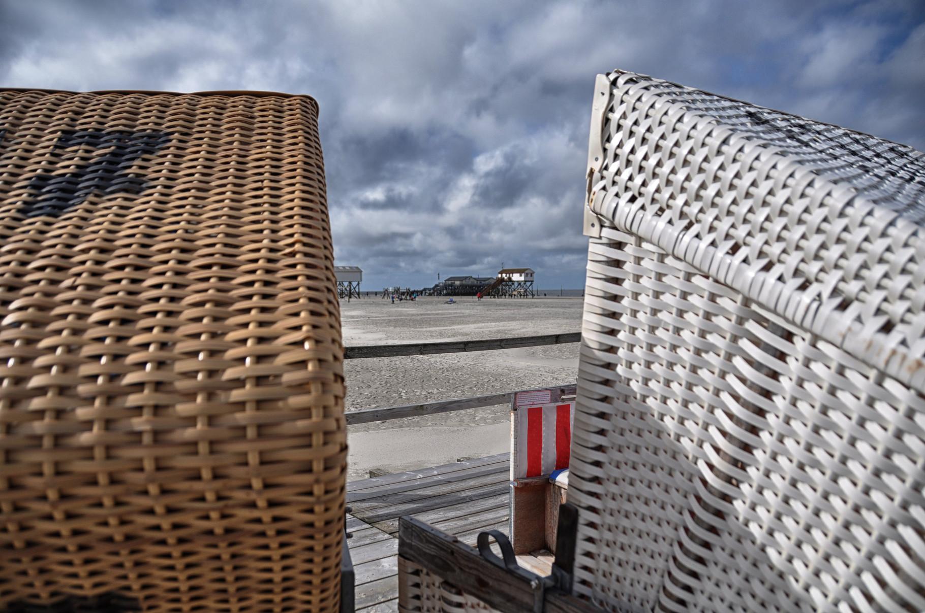 Im Strandkorb ist es kuschelig :-)