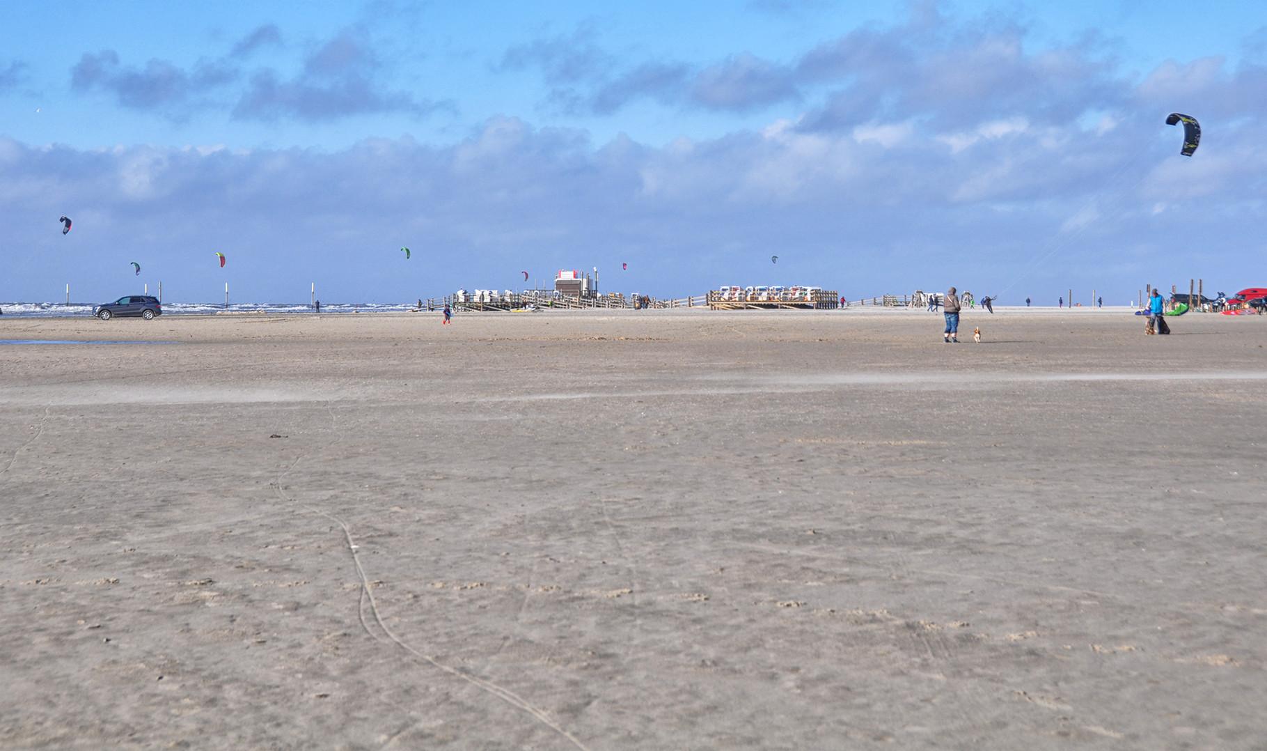 St.Peter Ording, Strandabschnitt Ording, Strandkorb 5 Euro
