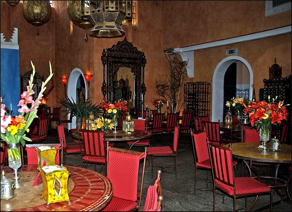 u.a drinnen im Marrakesh