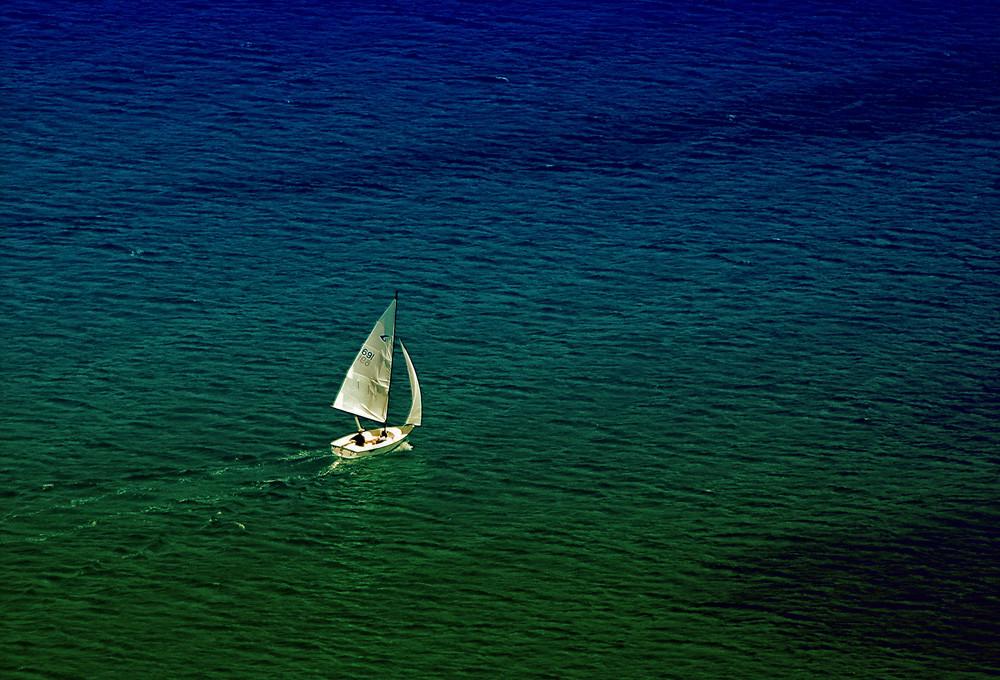 ANALOG,.....Bucht von Ag.Georgios ( im Westen )