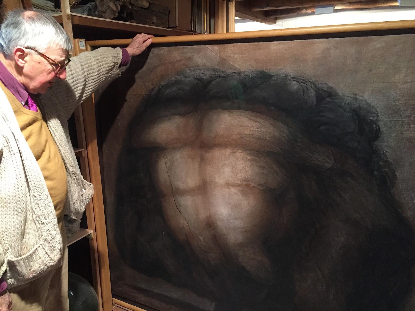 2003. 145 x 184 cm. Fusain sur lès de toile et lès de papier marouflés sur toile.