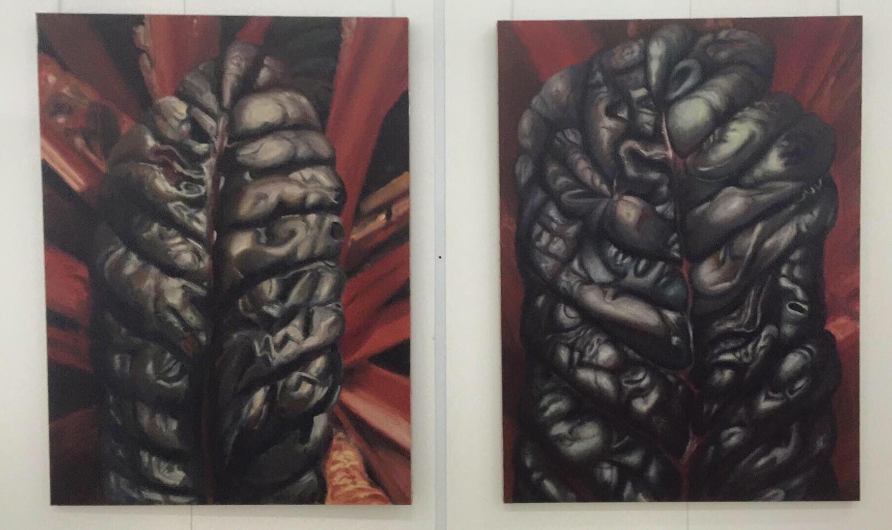 2011.  2 x 195 x 145 cm. Peinture à l'huile sur toile.