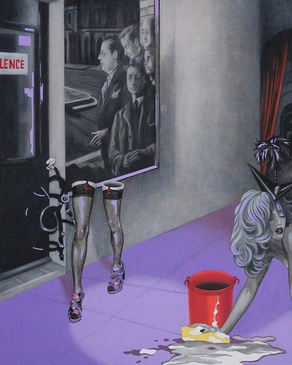 Le cirque du Silence 81 x 65 cm