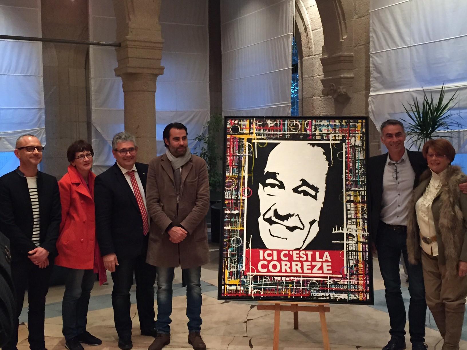 Le tableau d'Eric DUMESNY intègre la collection du Musée du Président Jacques CHIRAC à Sarran