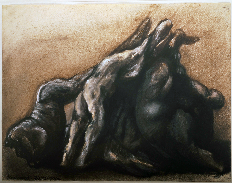 2004. 38 x 50 cm. Pastel et fusain sur papier préparé.