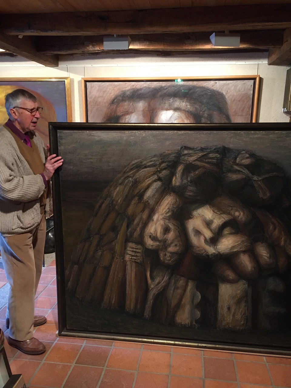 1998. 145 x 195 cm. Pastel sur lès de toile marouflés sur toile.