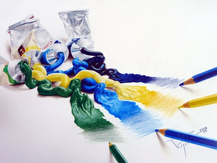 L'huile aux crayons