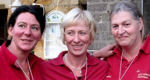 SSV Alfeld Zeam: Kerstin Allkemper, Angela Hahlbohm und Christiane Walther. Platz 3 LM Nds. Frauen 2010