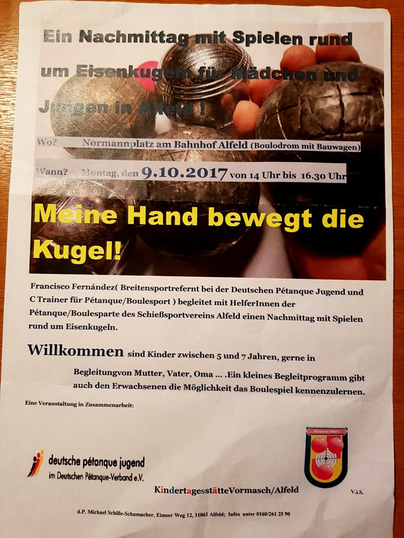 Montag, den 9.10.2017 um 14 Uhr auf dem Normannplatz