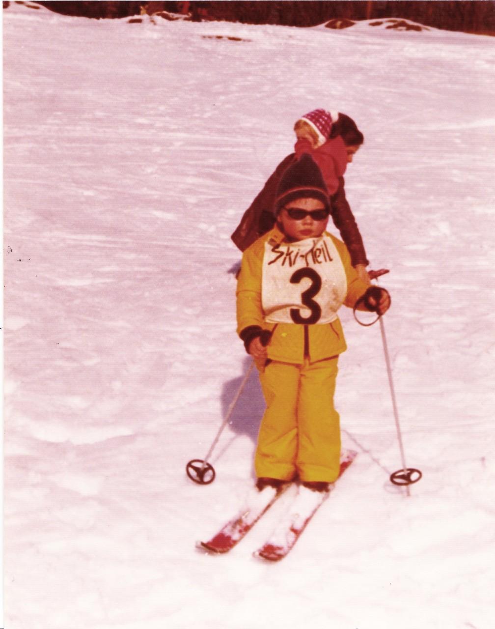 Schülerskirennen ca. 1976, Patrizia Balmer
