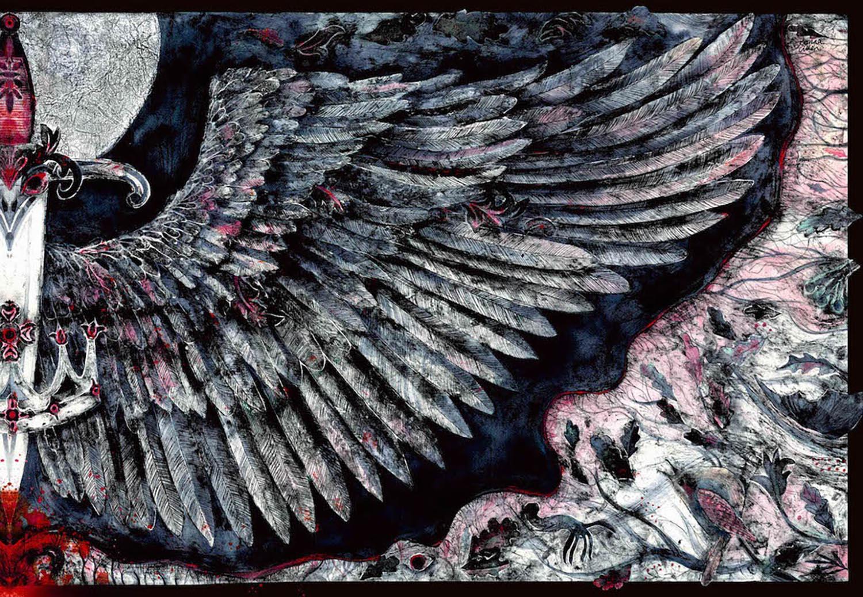 Hurly Burly - handcoloured collagraph image 70x45cm unmounted £465