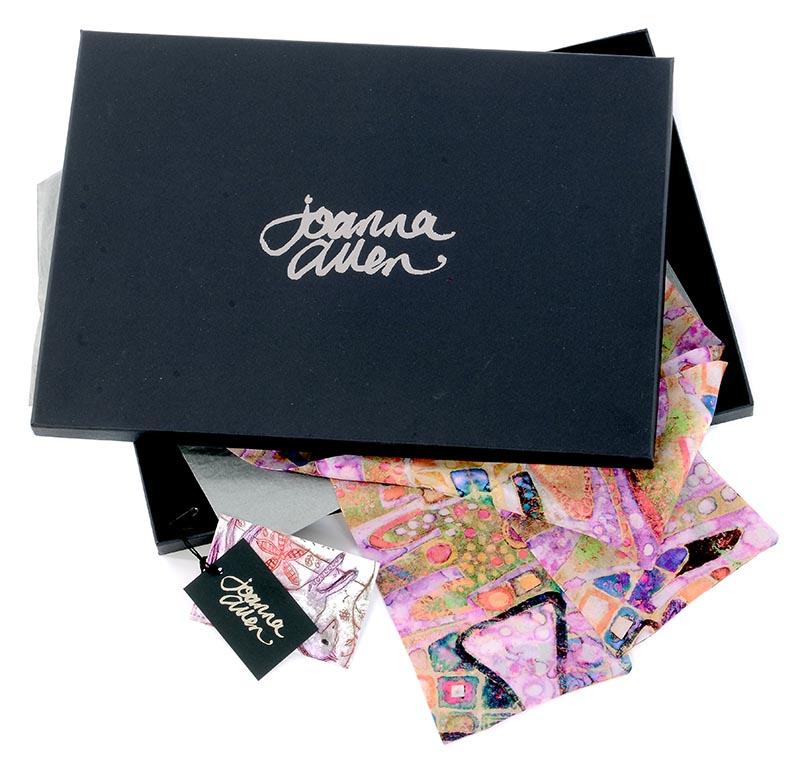 luxury silk scarf presentation gift box