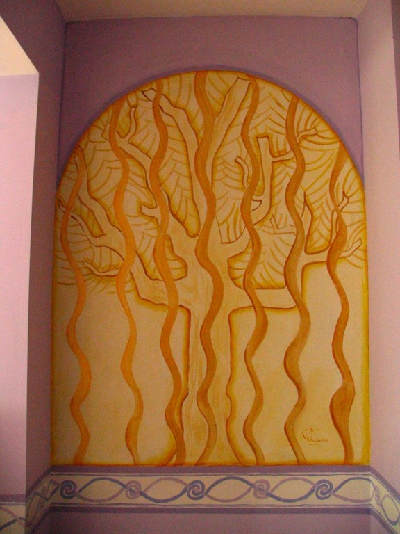 Arbolito, acrylic on wall. Noemar house. Dublin, Irlanda 2007