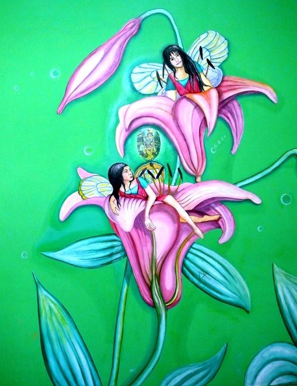 Hadas.Faires on Natural Green.Restaurant  Mexico city. 2010