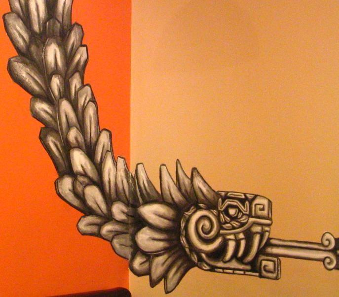 Quetzalcoatl Cafe Azteka Dublin Irlanda.