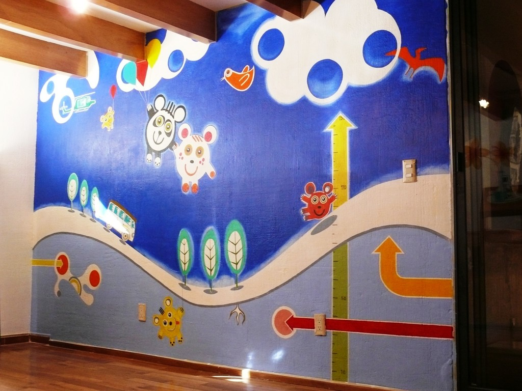 Funky wall. Children room