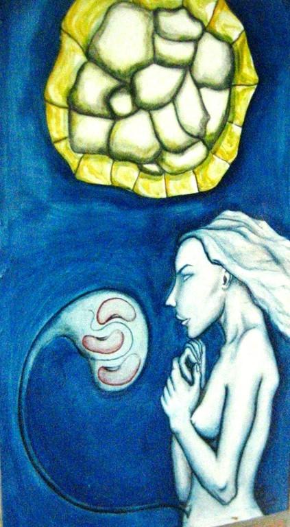 Concepcion. Acrylic on cavas. 2000 Mazunte. SOLD
