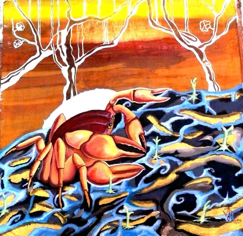 Lluvia creadora. Acrylic on canvas. 2009. Mermejtia 71X70