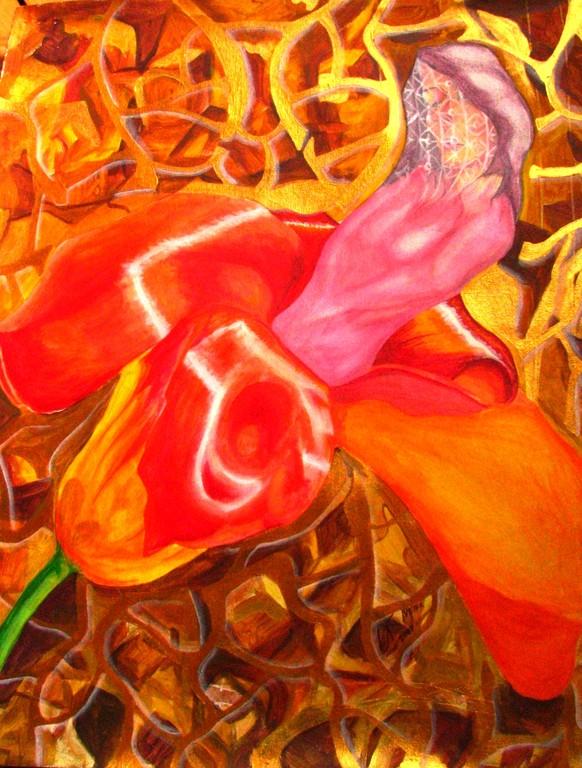 Floreciendo. Acrylic on canvas. 2007. Dublin  Vendido/Sold