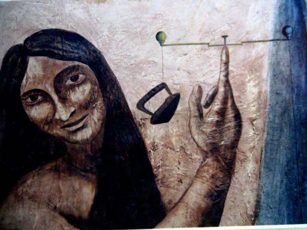 Saint Eve. Fresco. Mexico City 1995