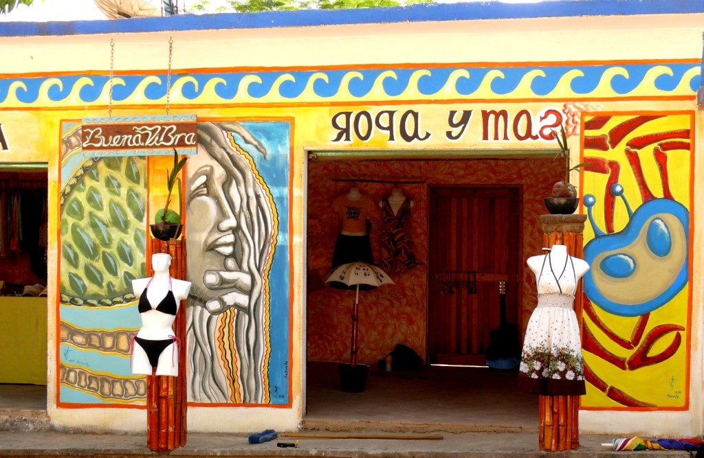 La buena vibra. Clothes and more shop. Mazunte. Oaxaca. Mexico