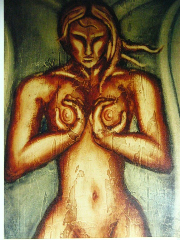 Madre tierra. Acrilyc on canvas. Coleccion Personal. Mexico 1996