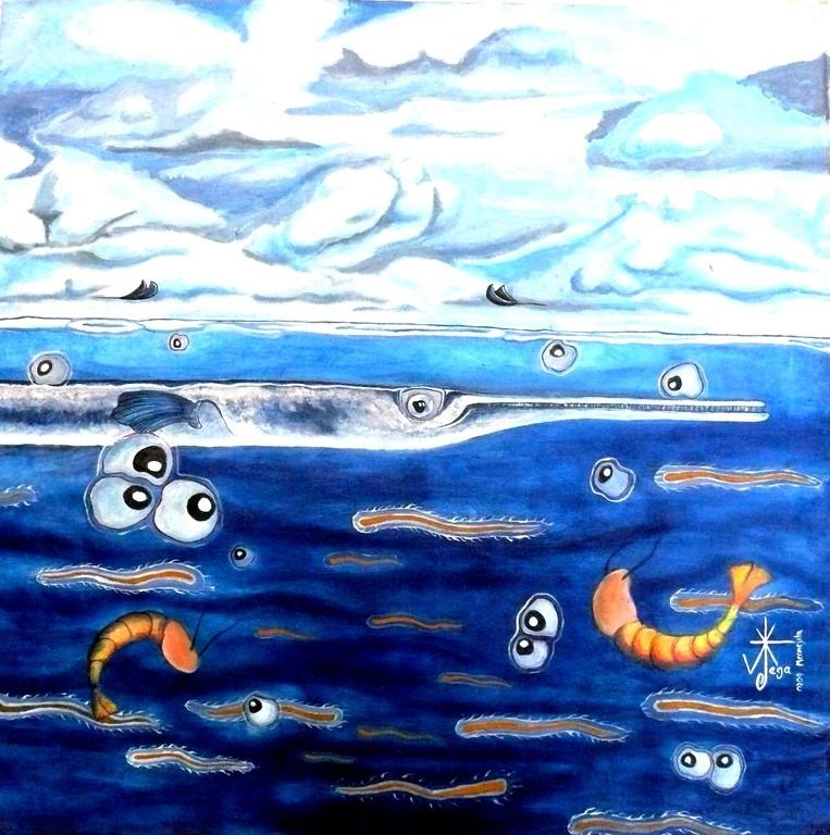 Despues de la tormenta.. Acrylic on canvas. 2009 Mermejita 71X70