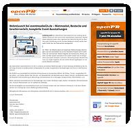 "Screenshot: Previewscreen ""OPENPR"", Pressemitteilung von eventmöbel24.de | Mietmöbel, Festzeltverleih & Zeltzubehör"
