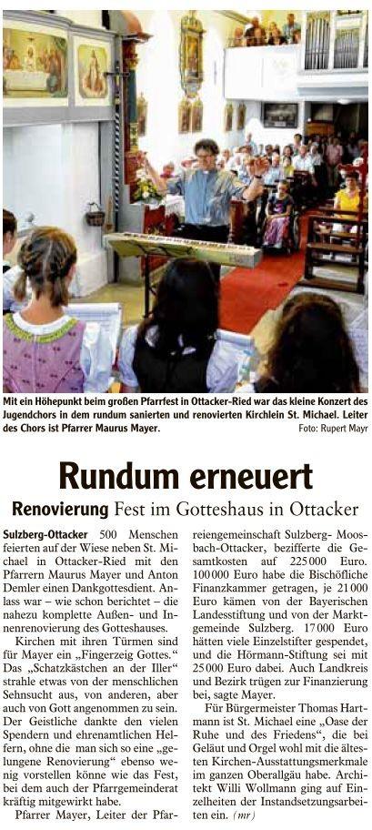 Allgäuer Zeitung vom 22. Juli 2013