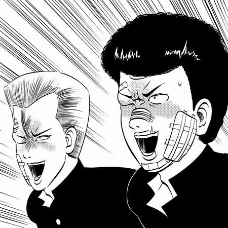 右の人が久保島さんよ。